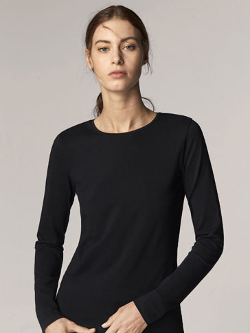 LANGÄRMLIGES BASIC-SHIRT
