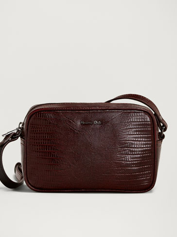 MOCK CROC LEATHER CROSSBODY BAG