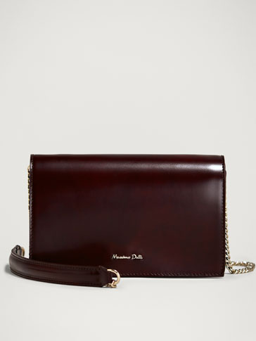 PLAIN LEATHER HANDBAG