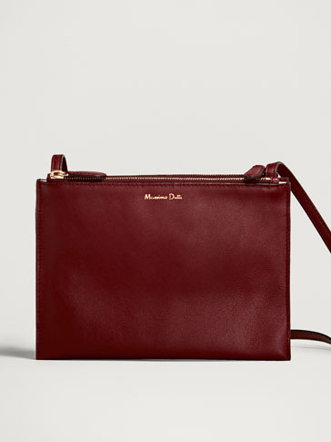 PLAIN NAPPA LEATHER CROSSBODY BAG