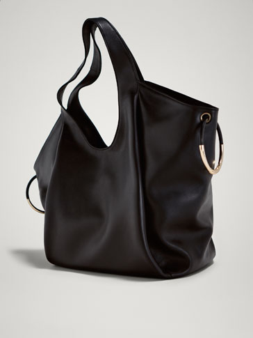 LIMITED EDITION LEATHER HANDBAG WITH METALLIC DETAILS