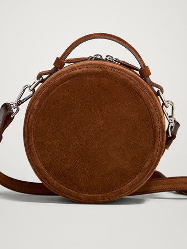 Split Suede Crossbody Bag by Massimo Dutti