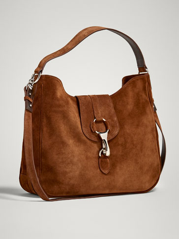SPLIT SUEDE HANDBAG