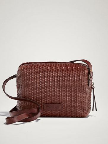 PLAITED LEATHER CROSSBODY BAG