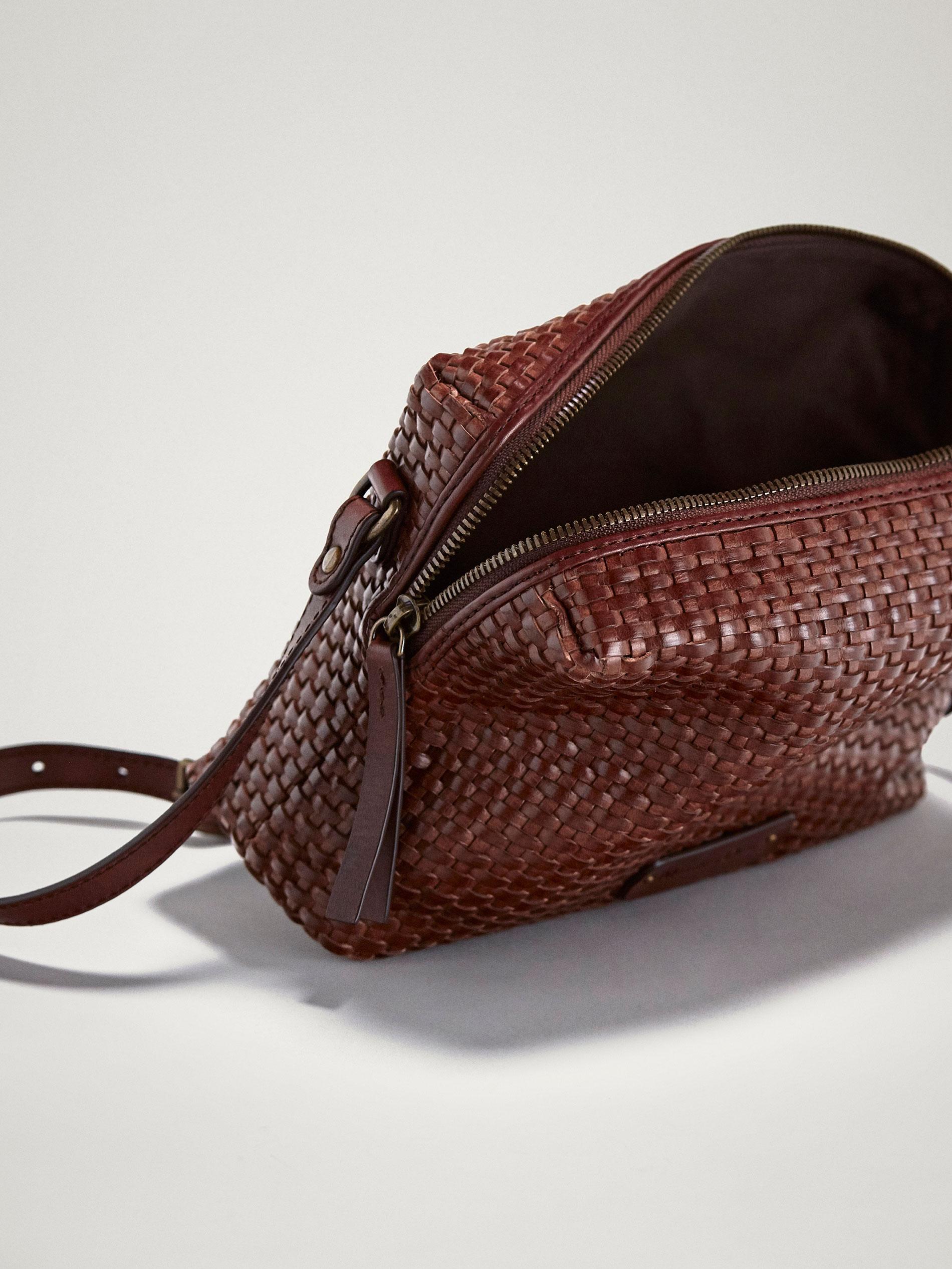 fd0dfab9d8e4 Massimo Dutti PLAITED LEATHER CROSSBODY BAG at £119