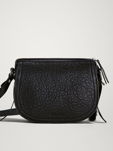 Black Nappa Crossbody Bag by Massimo Dutti