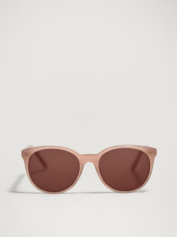 ROUND SUNGLASSES WITH CONTRASTING FRAME