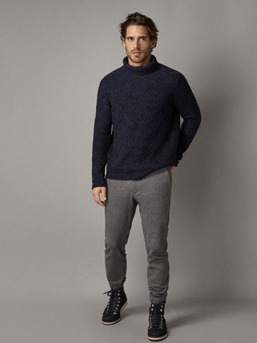 PANTALÓN MELANGE CARGO JOGGING FIT WINTER CAPSULE