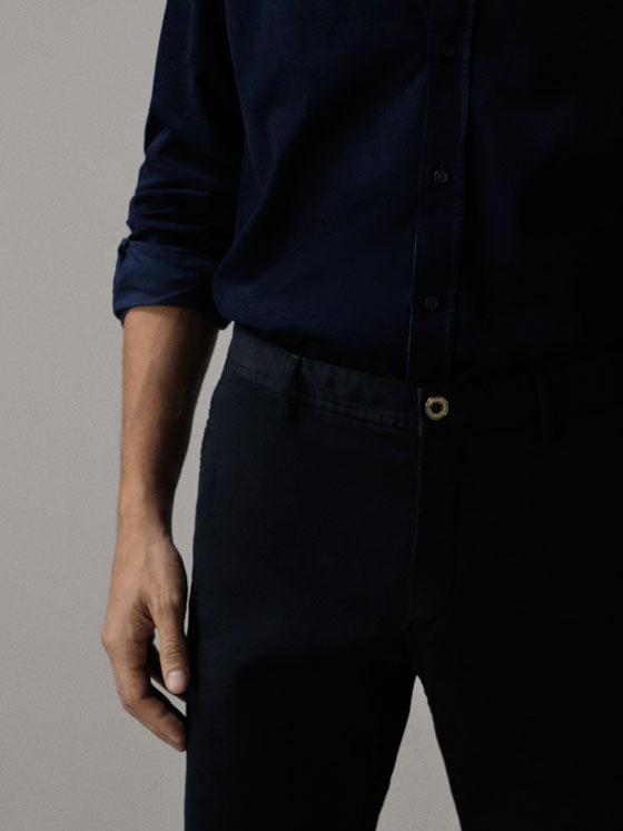 Massimo Dutti - PANTALON CHINO REGULAR FIT - 3