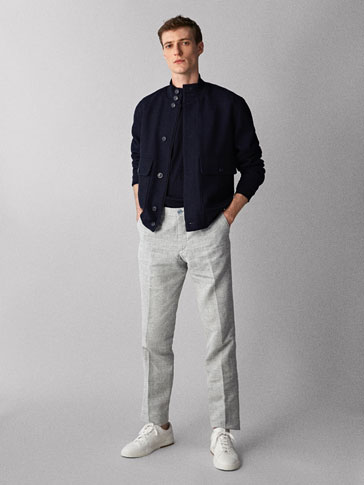 CASUAL-FIT BUKSE TYPE CHINOS I BOMULL/LIN