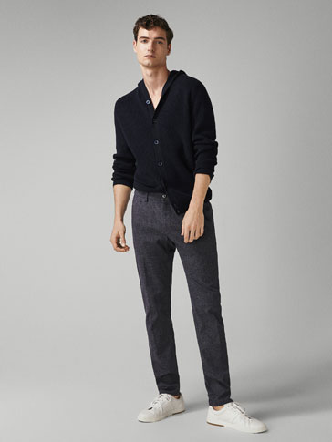 SLIM-FIT CHINOS MED RUTER