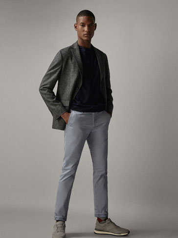 PANTALON CHINO RAYÉ SLIM FIT