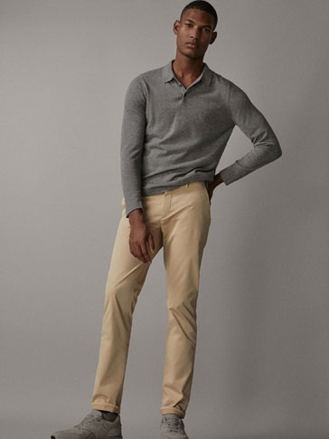 STRIPETE SLIM-FIT BUKSE TYPE CHINOS