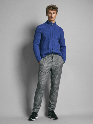 PANTALON LAINE CARREAUX SLIM FIT LIMITED EDITION