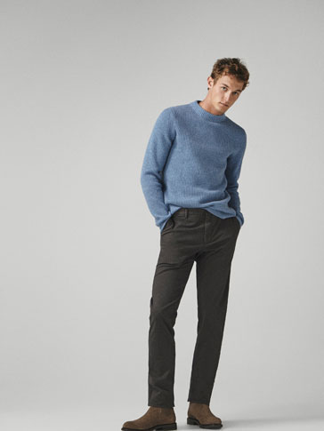 SLIM FIT TWO-TONE CHINOS
