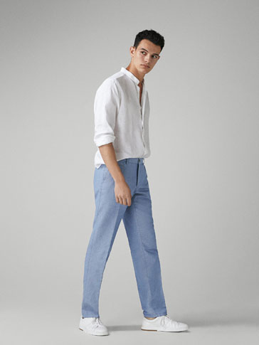 PANTALÓN CHINO MELANGE CASUAL FIT