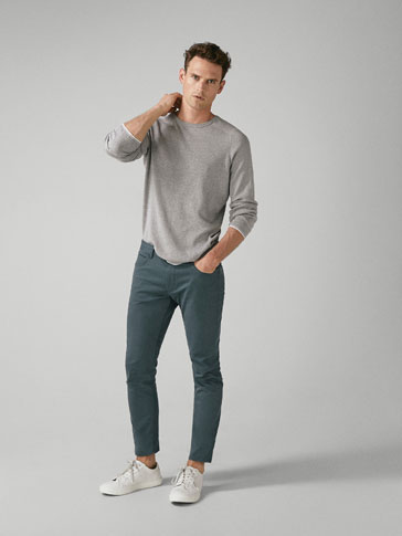 PANTALON 5 POCHES TEXTURE BROKEN TWILL EXTRA SLIM FIT