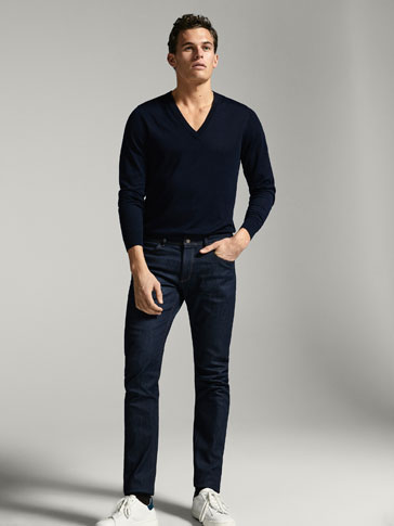 ENTBASTETE SLIM-FIT-JEANS