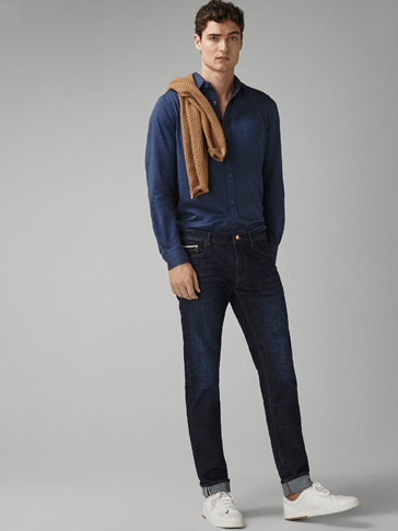 SLIM FIT CONTRAST JEANS