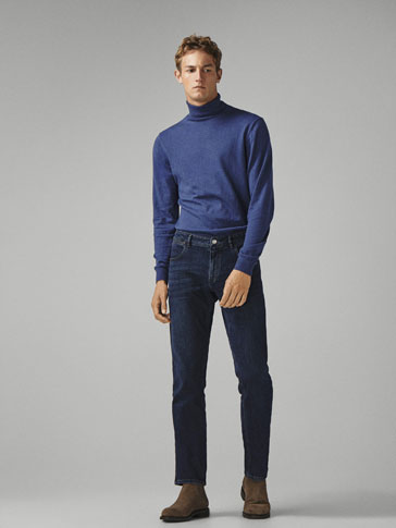 SLIM FIT DARK INDIGO JEANS