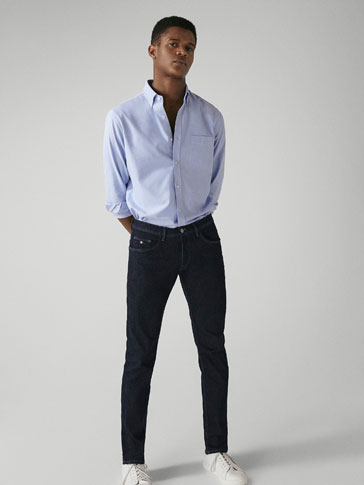 PANTALONI DIN DENIM DESCLEIAT SLIM FIT