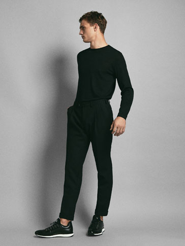 LIMITED EDITION SLIM FIT DARTED WOOL TROUSERS