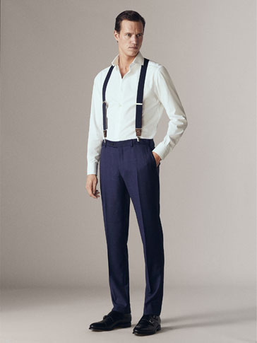 PERSONAL TAILORING SLIM FIT CHECKED WOOL CITY TROUSERS