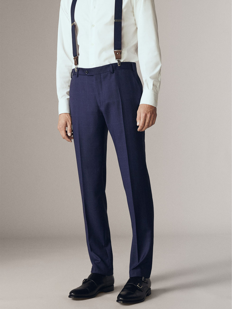 Skinny Fit Suit Trousers In Check - Light blue check Selected Clearance Low Shipping ofSs2BPCI