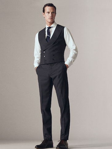 PERSONAL TAILORING SLIM FIT WOOL TROUSERS