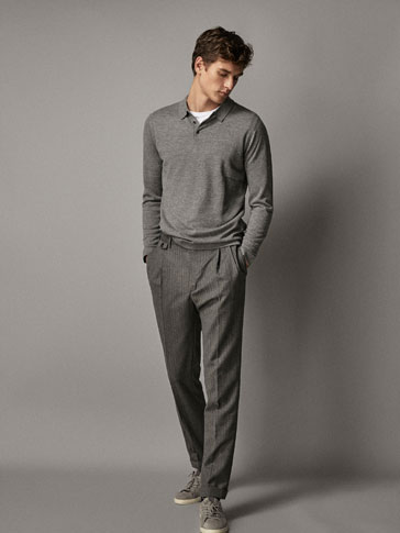PERSONAL TAILORING SLIM FIT DARTED WOOL TROUSERS