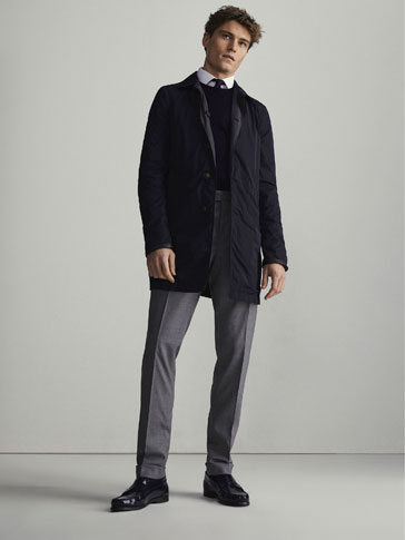 PLAIN SLIM FIT WOOL CITY TROUSERS