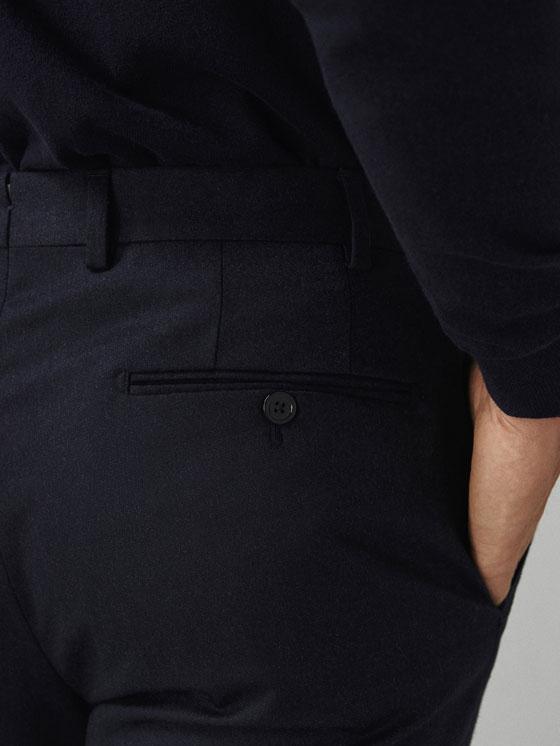 Massimo Dutti - PANTALON LAINE FLANELLE SLIM FIT - 5