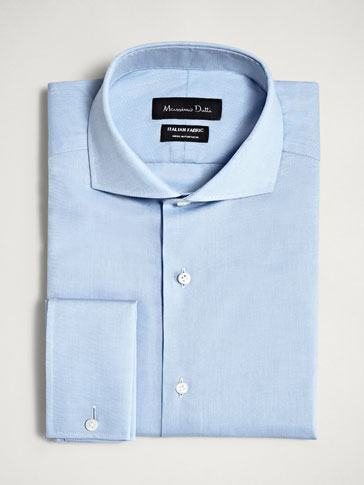 PERSONAL TAILORING SLIM FIT TEXTURED COTTON SHIRT