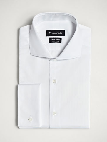 PERSONAL TAILORING SLIM FIT HERRINGBONE COTTON SHIRT