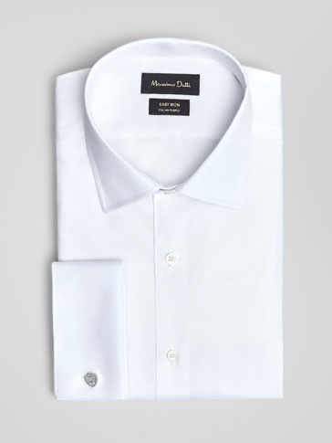UNIFARBENES TAILORED-FIT-OXFORDHEMD »EASY IRON«
