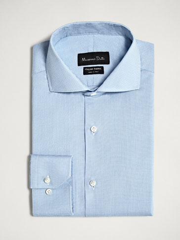 PERSONAL TAILORING TAILORED FIT TEXTURED COTTON SHIRT