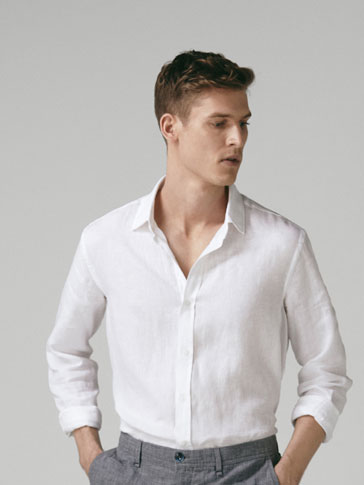 CAMISA LIÑO TINGUIDA SLIM FIT
