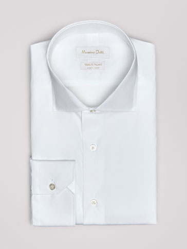 PLAIN SLIM FIT POPLIN SHIRT