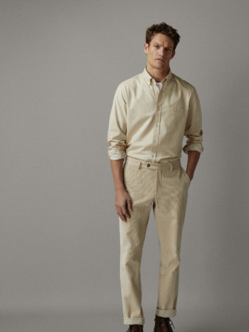 REGULAR FIT COTTON TWILL SHIRT