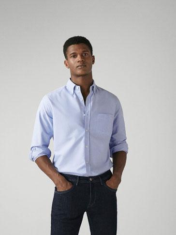 قميص قطني أوكسفورد ريغولار فيت