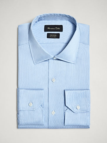 CAMISA ALGODÓN JACQUARD SLIM FIT EASY IRON