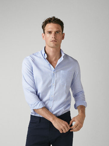 CHEMISE OXFORD CARREAUX VICHY REGULAR FIT