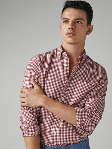 REGULAR FIT GINGHAM OXFORD SHIRT