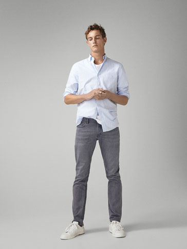 CĂMAȘĂ SLIM FIT OXFORD CU DUNGI