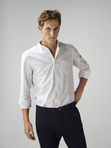 CAMISA OXFORD RAYAS SLIM FIT