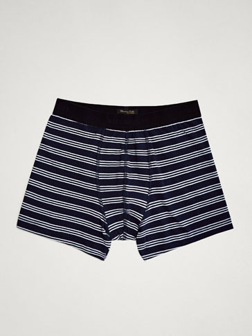 DOUBLE STRIPE PRINT BOXERS