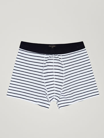 BOXERS WITH STRIPES DETAIL