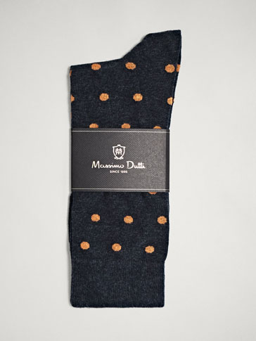POLKA DOT COMBED COTTON SOCKS