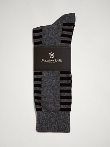 STRIPED COMBED COTTON SOCKS