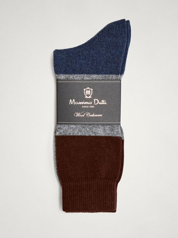 WOLLSOCKEN MIT COLOURBLÖCKEN LIMITED EDITION